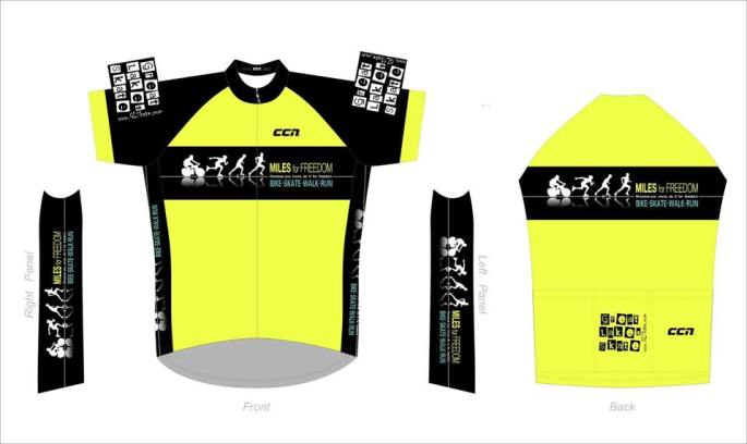 Miles for Freedom Higlighter Yellow Cycling Jersey