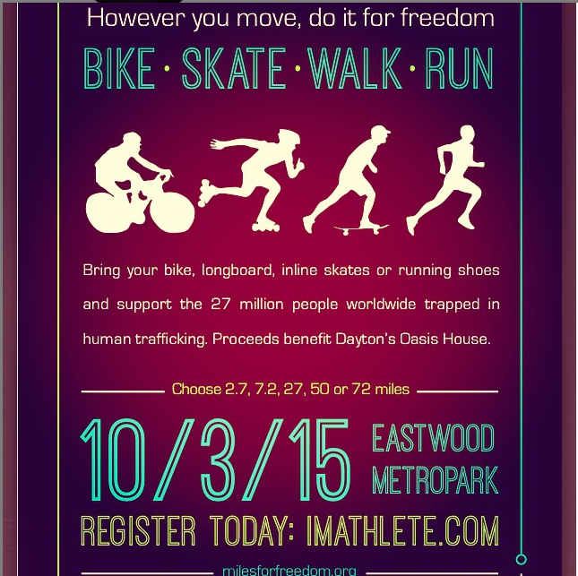 Register Now for Miles for Freedom October 3, 2015 to support Oasis House